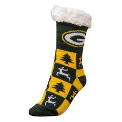 Packers Women's Ugly Footie Slipper