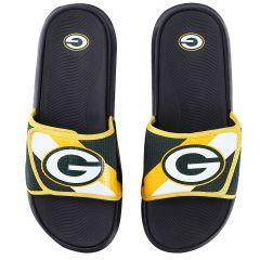 Packers Men's Mesh Stripe Slide Sandal