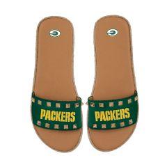 Packers Women's Espadrille Studded Slide Sandal
