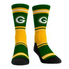 Packers Color-Blocked Stripe Crew Sock