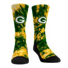 Packers Team Color Tie-Dye Crew Sock