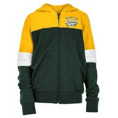 Packers Girls' French Terry Full Zip Hoodie