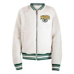 Packers Girls Sherpa Full Zip Fleece Jacket