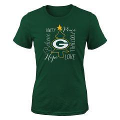 Packers Girls Holiday Wish T-Shirt