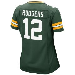 #12 Aaron Rodgers Home Girls Game Jersey
