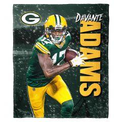 Packers Davante Adams Silk Touch Throw Blanket
