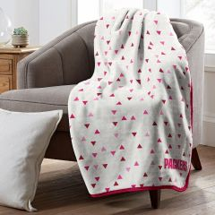 Packers Triangle Pattern Plush Throw Blanket