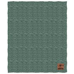 Packers 2-Tone Cable Knit Throw Blanket