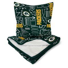 Packers Doodle Pop Blanket & Pillow Combo