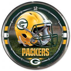 Green Bay Packers Helmet Chrome Clock
