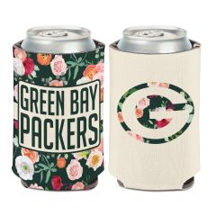 Packers Floral Can Cooler