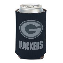 Packers Black Tonal Logo Can Cooler