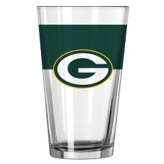Packers Color-Blocked Pint Glass
