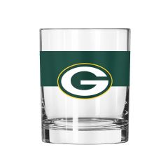 Packers Color-Blocked Rocks Glass
