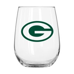 Packers Gameday Curved Wine Glass