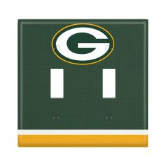 Packers Double Toggle Light Switch Plate