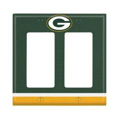 Packers Double Rocker Light Switch Plate