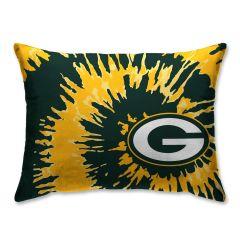 Packers Tie Dye Standard Bed Pillow