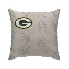 Packers Wordmark Arrows Decor Pillow