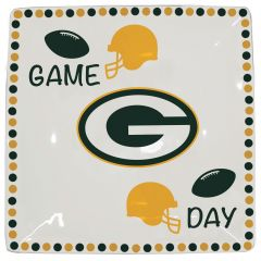 Green Bay Packers Game Day Square Serving Tray