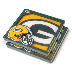 Packers 3D Logo Series 2-Pack Coasters