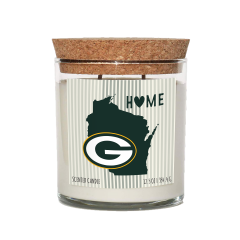 Packers Cork Top Amber Musk Scented Candle