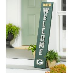 Packers Corrugated Welcome Porch Leaner