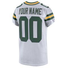 Packers Custom Away Elite Player Jersey