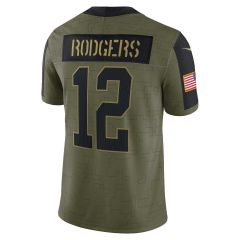 Salute to Service #12 Rodgers Limited Jersey
