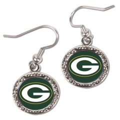 Green Bay Packers Round Logo Earrings
