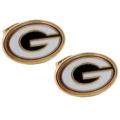 Green Bay Packers Primary Logo Post Earrings