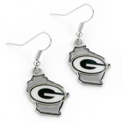Green Bay Packers Home State Dangler Earrings