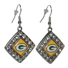 Packers Charmed Crystal Earrings