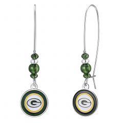 Packers Beaded Logo Wire Earrings