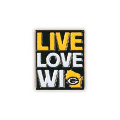 Packers Live Love Wisconsin Pin