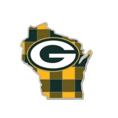 Packers Wisconsin Plaid Pin