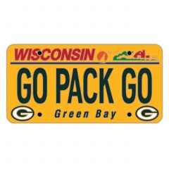 Packers License Plate Pin
