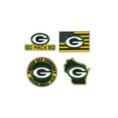 Packers 4-Pack Team Pride Pin Set