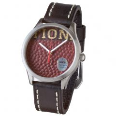 Green Bay Packers Football Leather Watch