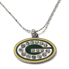 Green Bay Packers Rhinestone G Necklace