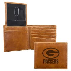Packers Laser Engraved Leather Billfold Wallet