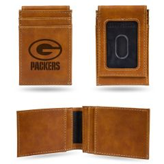 Packers Laser Engraved Front Pocket Wallet