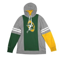Packers Color-Blocked Hooded Long Sleeved T-Shirt