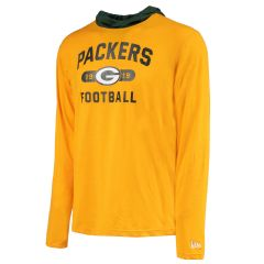 Packers Heathered Jersey Hooded T-Shirt