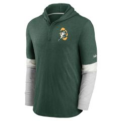 Packers Logo Historic Hooded Henley