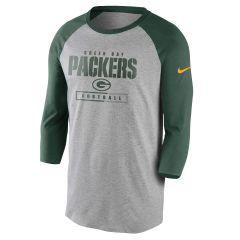 Packers Wordmark Football All 3/4 T-Shirt