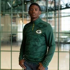 Packers Shade Camo Jacquard 1/4 Zip Pullover