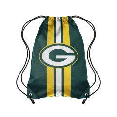Packers Team Stripe Drawstring Backpack