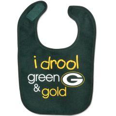 "Green Bay Packers ""I Drool Green & Gold"" Bib"