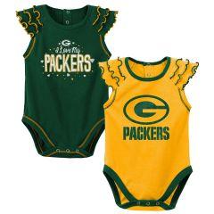 Packers Newborn Shining MVP 2-Pack Bodysuit Set